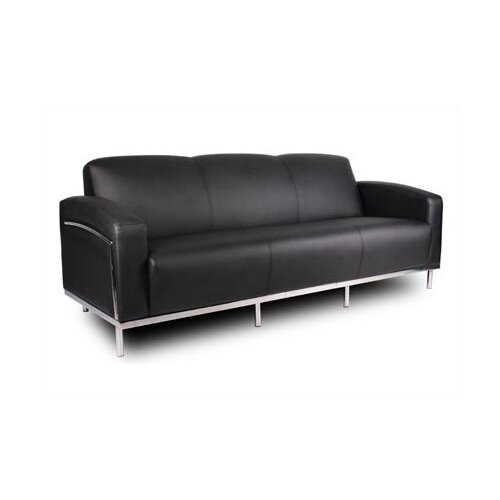 Boss Office Products Three Seat Sofa with Chrome Frame