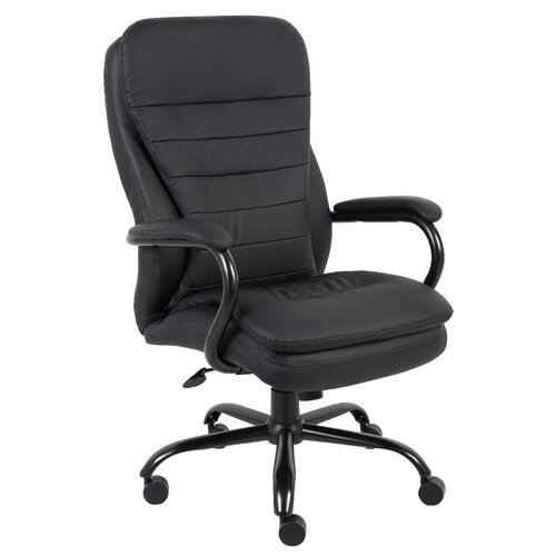 Boss Office Products High-Back Heavy Duty Double Plush Caressoft Office Chair