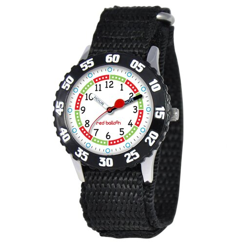 Kid's Stainless Steel Time Teacher Watch in Black