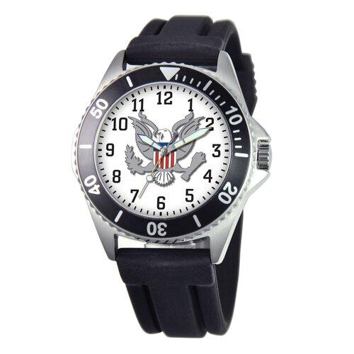 EWatchFactory Men's U.S. Army Honor Rubber Strap Watch