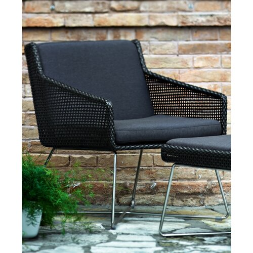 Varaschin Avalon Dining Chair with Arms in Dark Brown