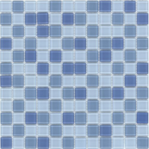 Surfaces Elida Glass Mosaic in Baby Blue Multicolor