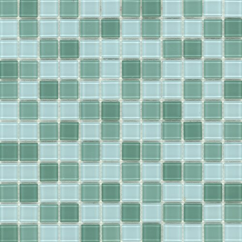 Elida Glass Mosaic in Jade Multicolor