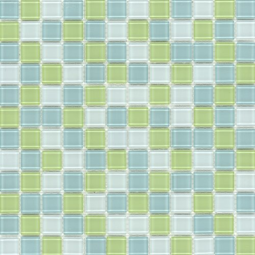 Surfaces Elida Glass Mosaic in Lime Multicolor