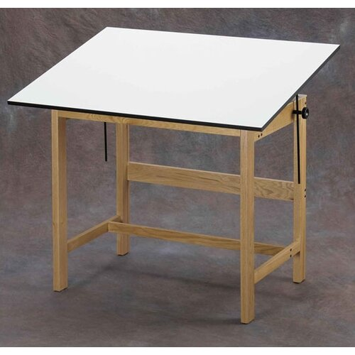Titan Melamine Drafting Table with Drawer