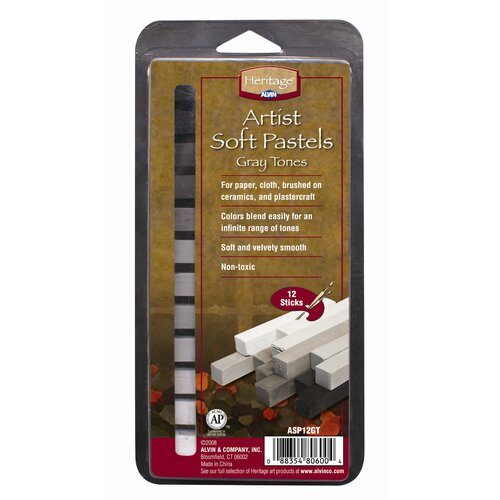Alvin and Co. Graytone Soft Pastels Set