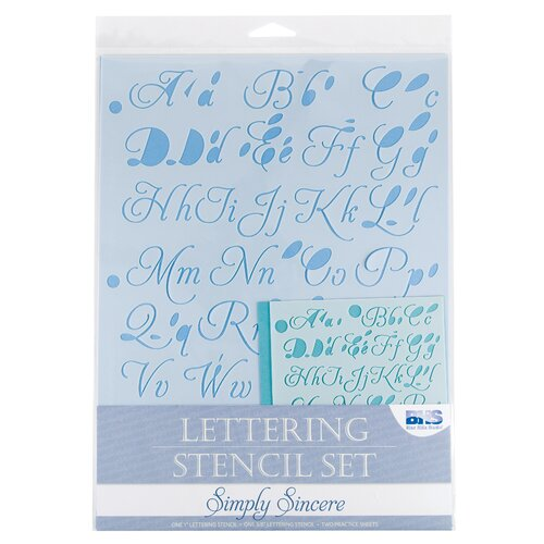 Alvin and Co. Simplysincere Lettering Stencil Set