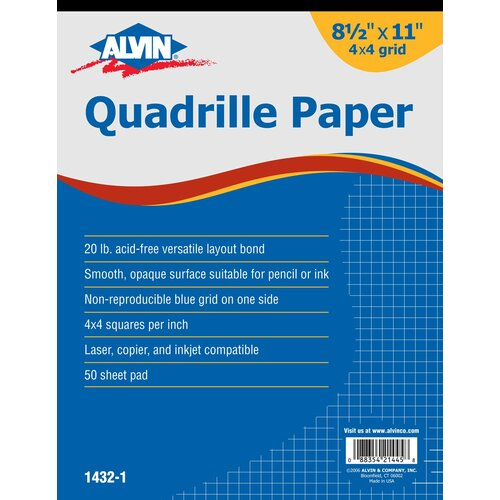 Alvin and Co. Quadrille Paper Grid Pad