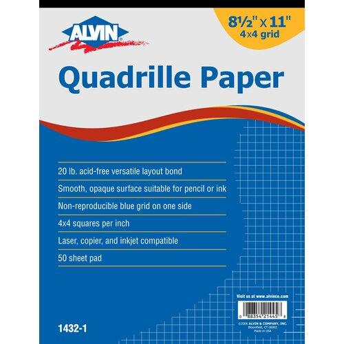 Alvin and Co. Quadrille Paper Grid Pad