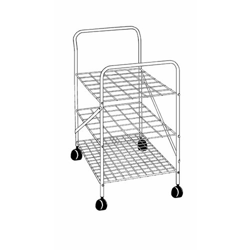 """Alvin and Co. 28"""" Roll File Cart"""