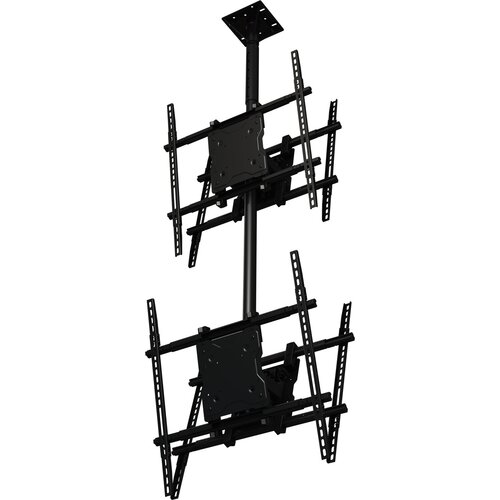 "Crimson AV Dual Screen Tilt Universal Ceiling Mount for 37"" - 65"" Screens"