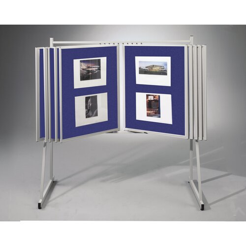 "Best-Rite® Swinging Floor Base and Wall Mount 3'4"" H x 2'6"" L Royal Hook & Loop Bulletin Board Panels"