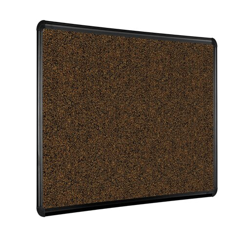 Best-Rite® Black Splash-Cork Tackboard with Presidential Trim