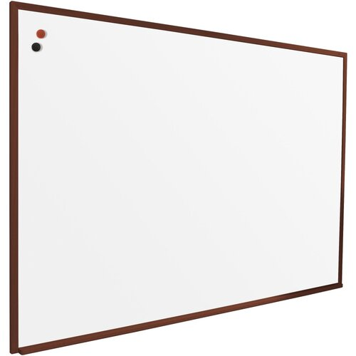 Best-Rite® 3' x 5' Porcelain Steel Markerboard with Solid Wood Trim