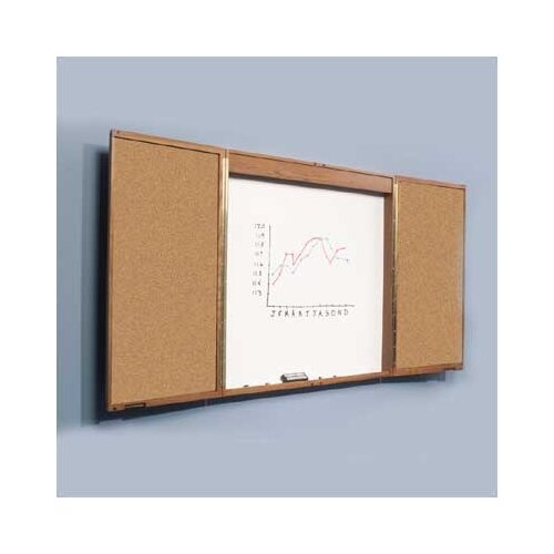 Best-Rite® Enclosed 4' x 4-8' Whiteboard