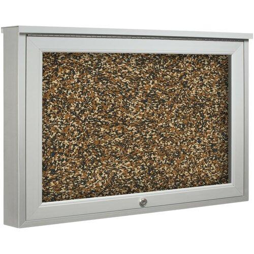 Best-Rite® Weather Sentinel Single Door Outdoor Enclosed Bulletin Board Cabinet