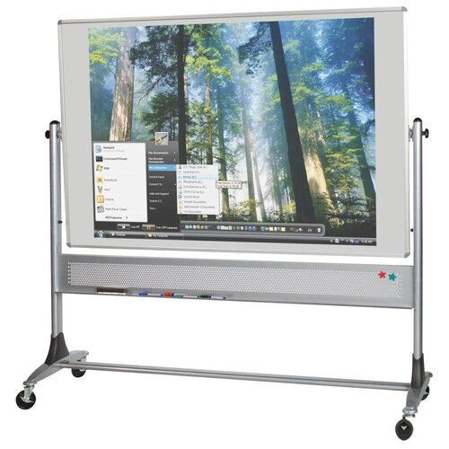 Best-Rite® Mobile Platinum Lumina Reversible Whiteboard