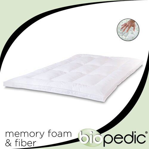 "BioPEDIC 2.5"" Memory Plus Classic Memory Foam & Fiber Mattress Topper"