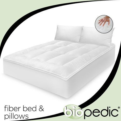 100% Cotton Fiber Bed with Bonus Pillow