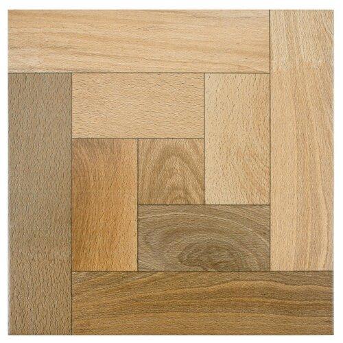 EliteTile Cobi Random Sized Glazed Ceramic Floor and Wall Tile in Nogal