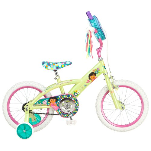 Dora Girl's Dora Bike with Training Wheels