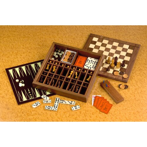 Drueke Drueke Ultimate Game Box with Backgammon