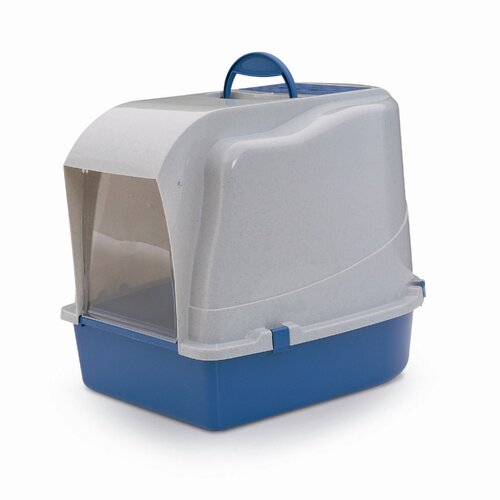 Cat travel cage with litter box