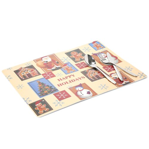 Carnation Home Fashions Happy Holidays Expanded Placemat