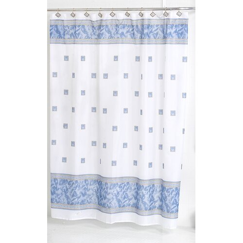 Carnation Home Fashions Windsor Polyester Shower Curtain Reviews Wayfair