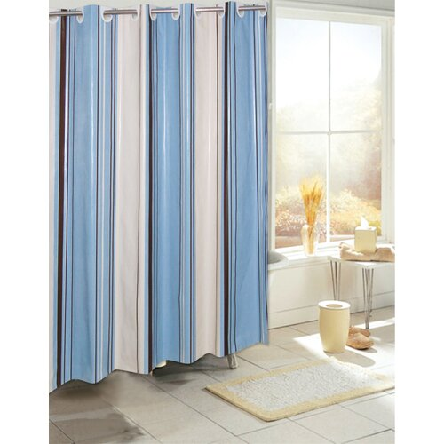EZ On Stripes Vinyl Shower Curtain