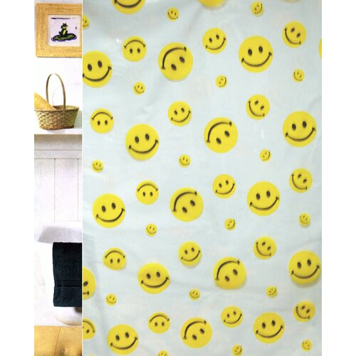 Happy Face Vinyl Shower Curtain