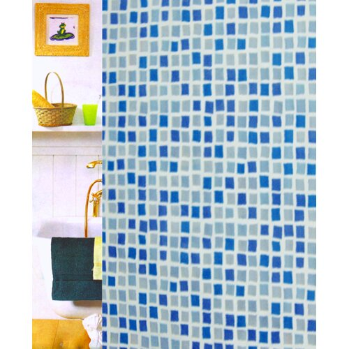 Mosaic Vinyl Shower Curtain