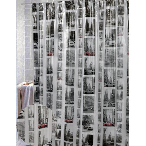 Carnation Home Fashions New York Vinyl Shower Curtain