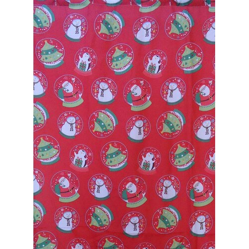 Carnation Home Fashions Santa's Globe Holiday Print 16-Piece Shower Curtain Set