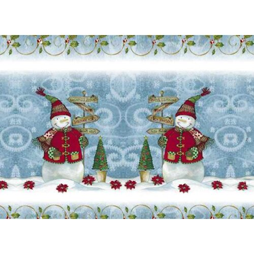 Carnation Home Fashions Snow Friends Expanded Placemat
