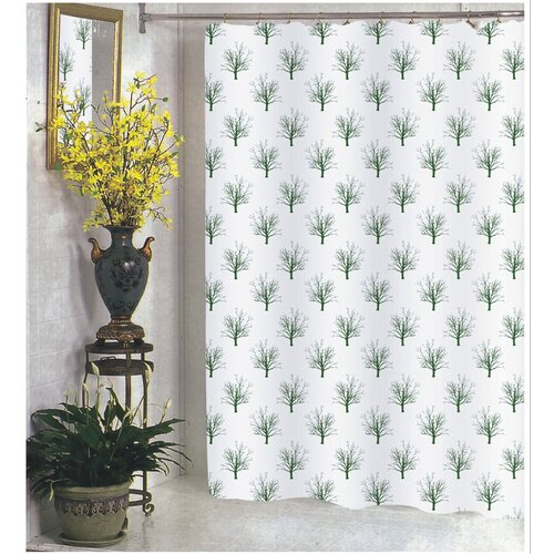 Carnation Home Fashions Faith Polyester Shower Curtain