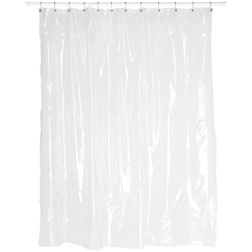 Extra Wide 5 Gauge Vinyl Shower Curtain Liner with Metal Grommets