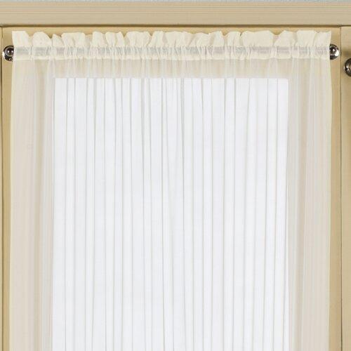 United Curtain Co. Batiste Half Rod Pocket Door Curtain Panel ...