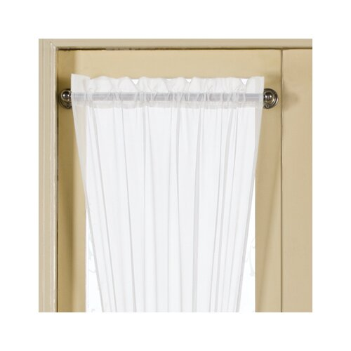 United curtain co monte carlo sidelight rod pocket curtain panel