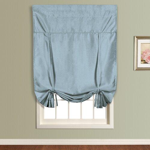 United Curtain Co. Anna Faux Silk Tie-Up Shade