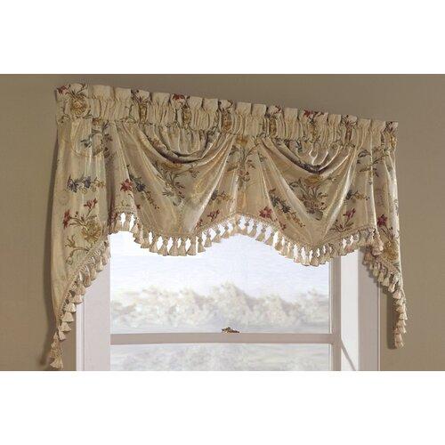 """United Curtain Co. Jewel Austrian 108"""" Curtain Valance"""