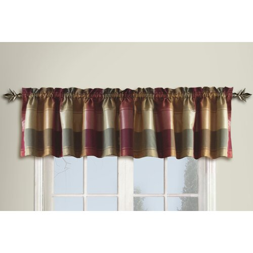 "United Curtain Co. Plaid 54"" Curtain Valance"