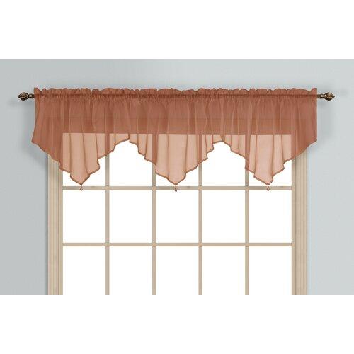 United Curtain Co Chantelle Triple Ascot Curtain Valance