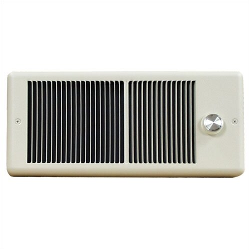 TPI Low Profile Fan Forced Electric Space Heater and Single Pole Thermostat