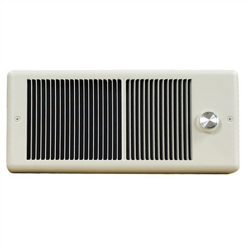 TPI Low Profile Fan Forced Wall Electric Space Heater with Wall Box and Double Pole Thermostat