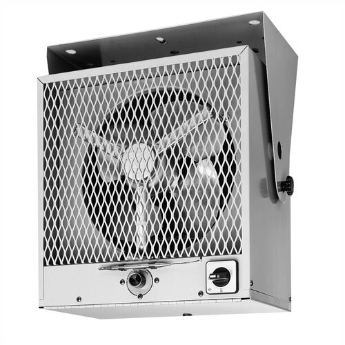 TPI Fan Forced Ceiling Phase 3 Mount Electric Space Heater with Thermostat