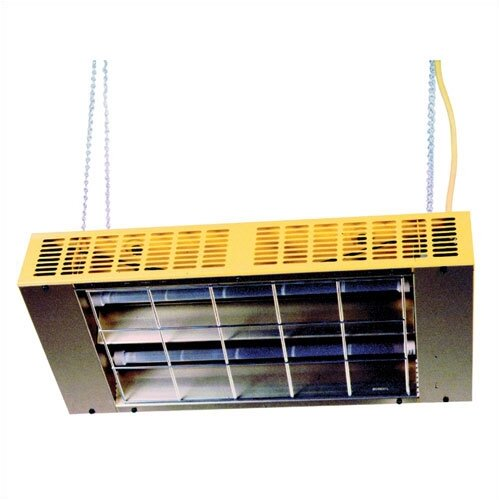 Fostoria Suspended / Portable Quartz 19,454 BTU Infrared Ceiling Mount Electric Space Heater