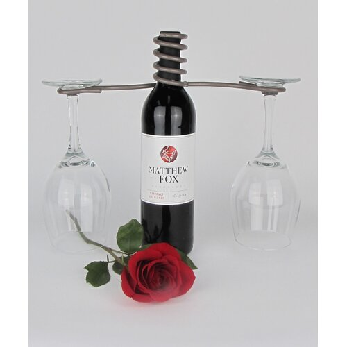 Wine Bottle 2 Stem Glass Holder