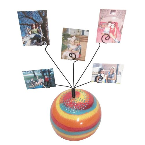 Metrotex Designs Girly Chic Tie Dye Peace Sign Table Photo Bubble