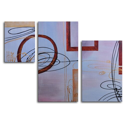My Art Outlet Empty Frames 3 Piece Original Painting on Canvas Set
